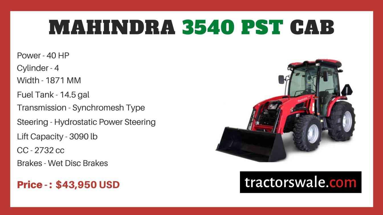 Mahindra 3540 PST CAB price