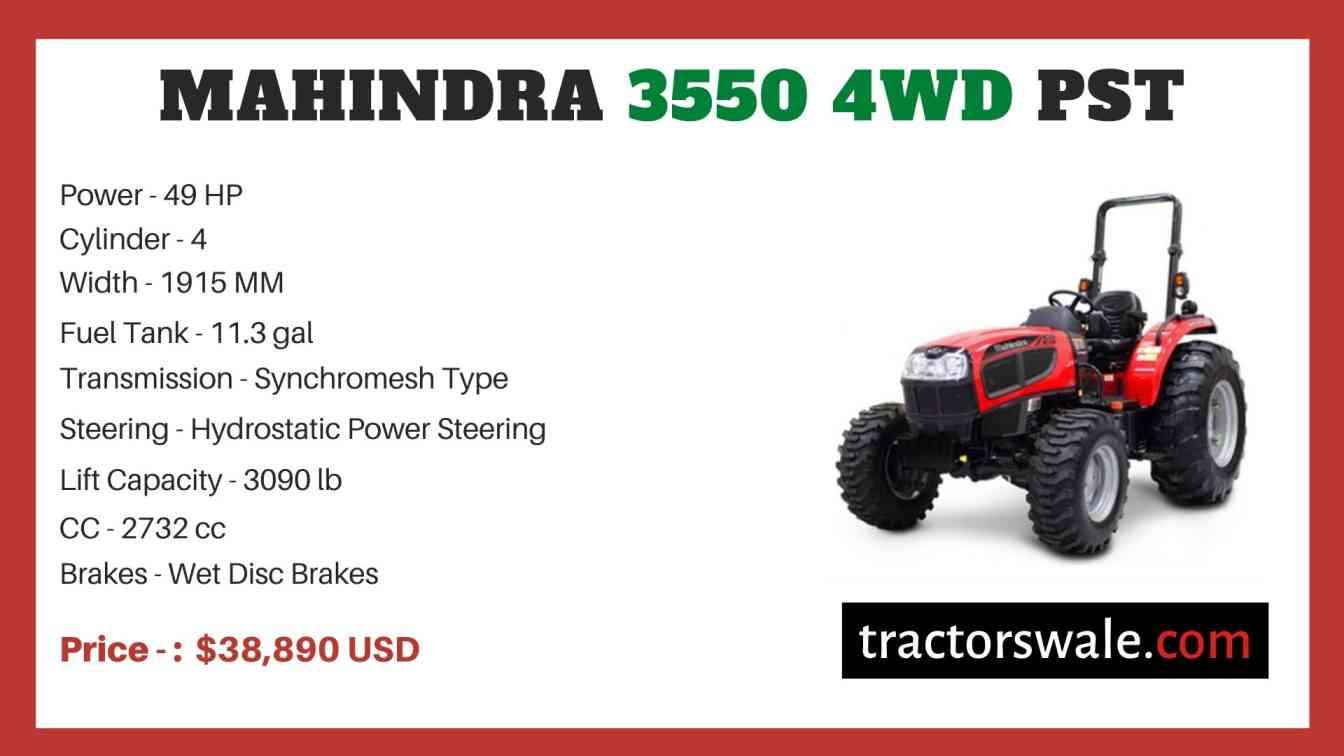 Mahindra 3550 4WD PST price