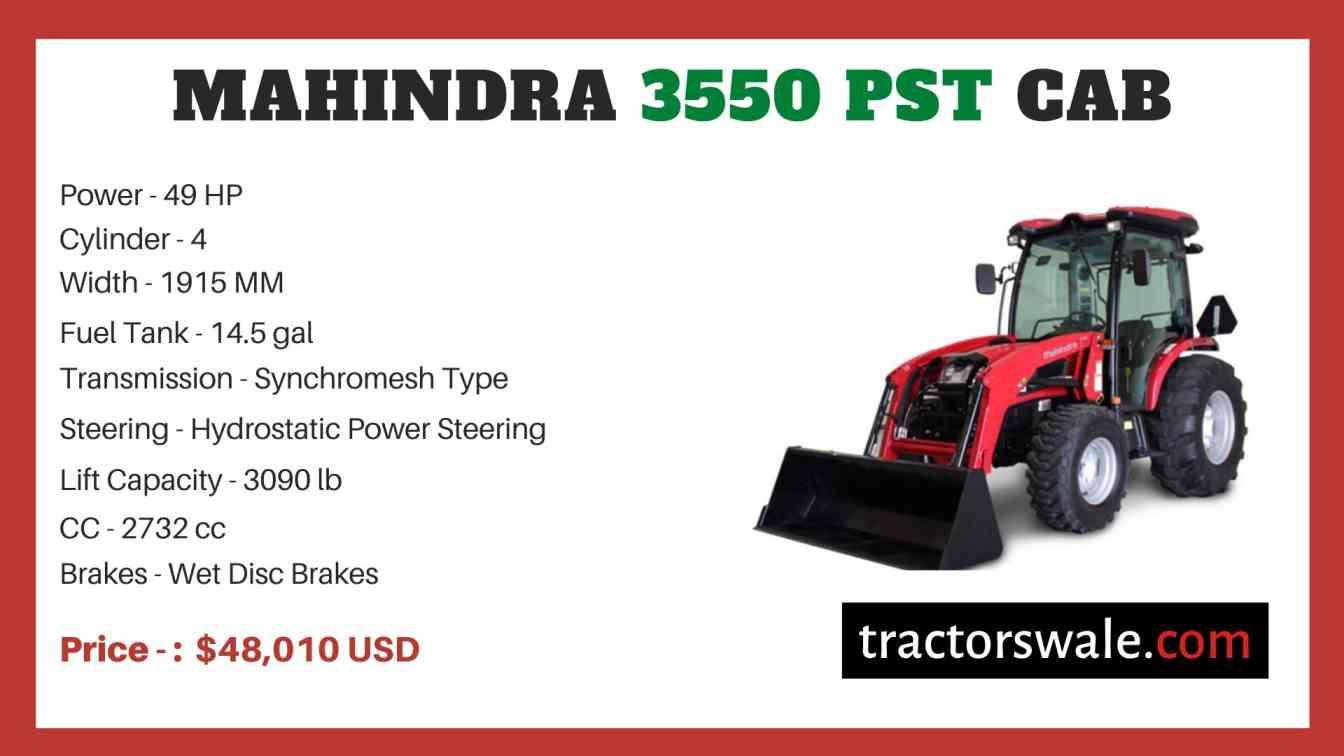 Mahindra 3550 PST CAB price
