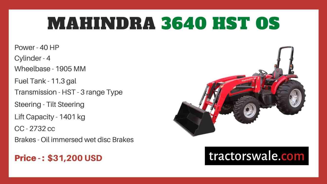 Mahindra 3640 HST OS price