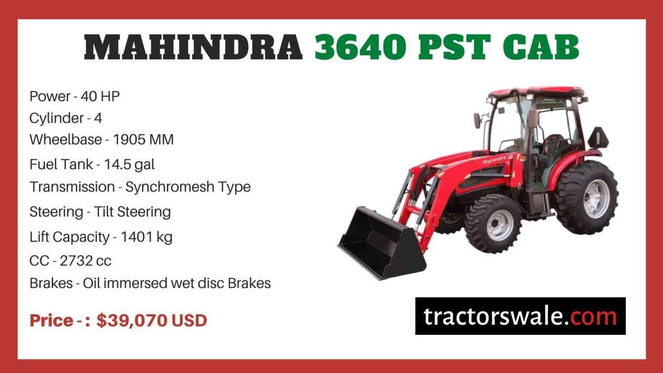 Mahindra 3640 PST CAB price