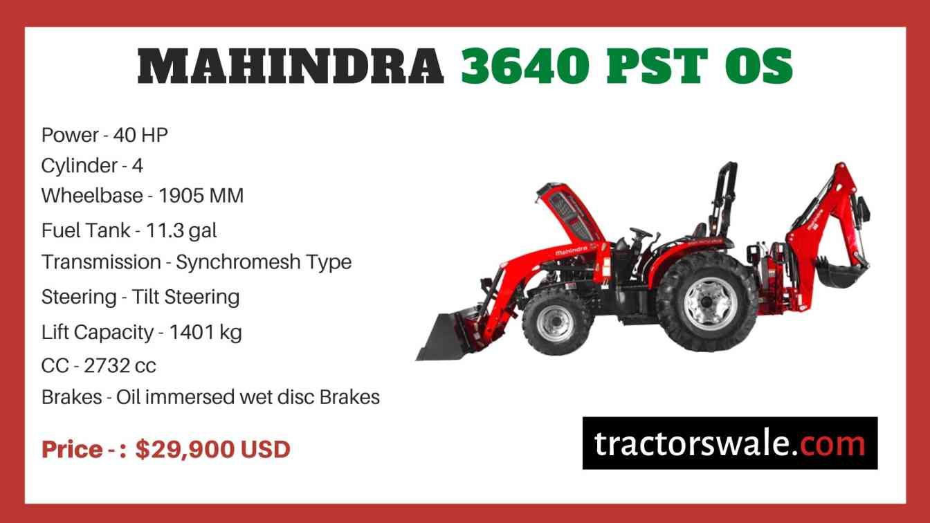 Mahindra 3640 PST OS price