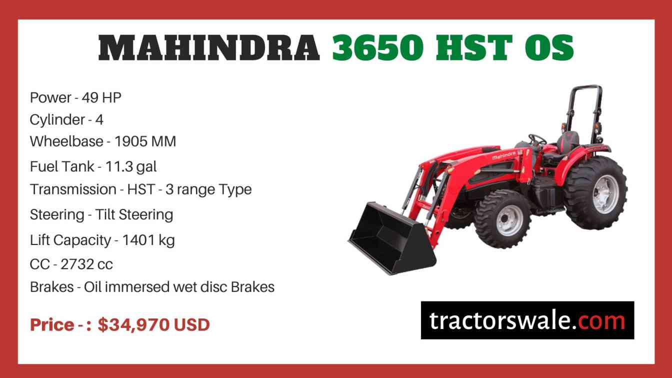 Mahindra 3650 HST OS price