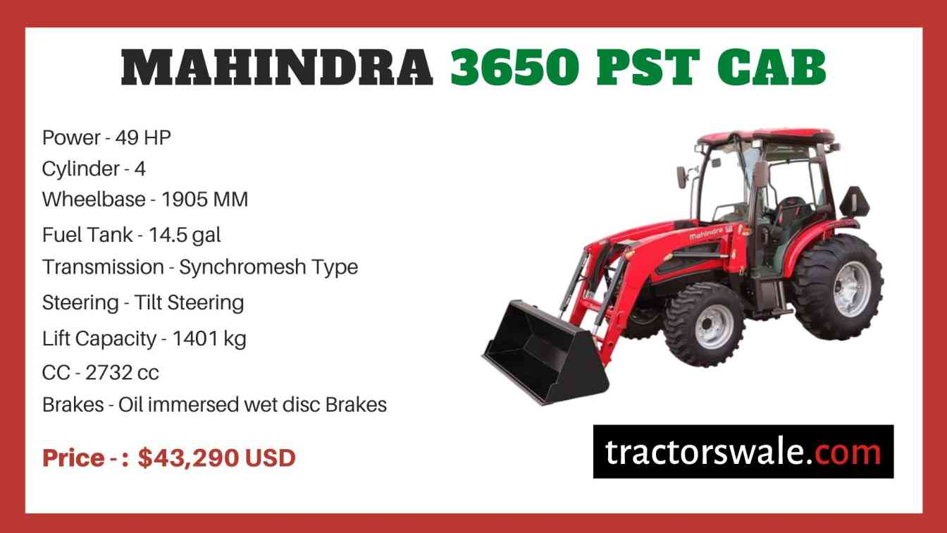 Mahindra 3650 PST CAB price