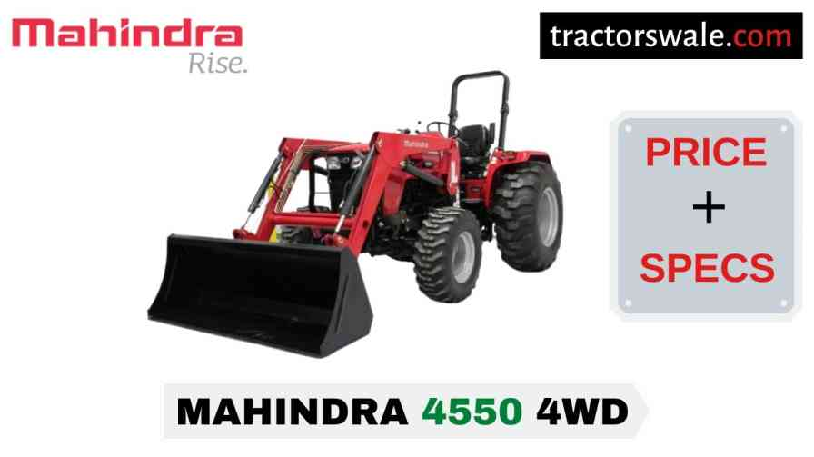 Mahindra 4550 4WD Tractor Price Mileage Specs Overview 2020