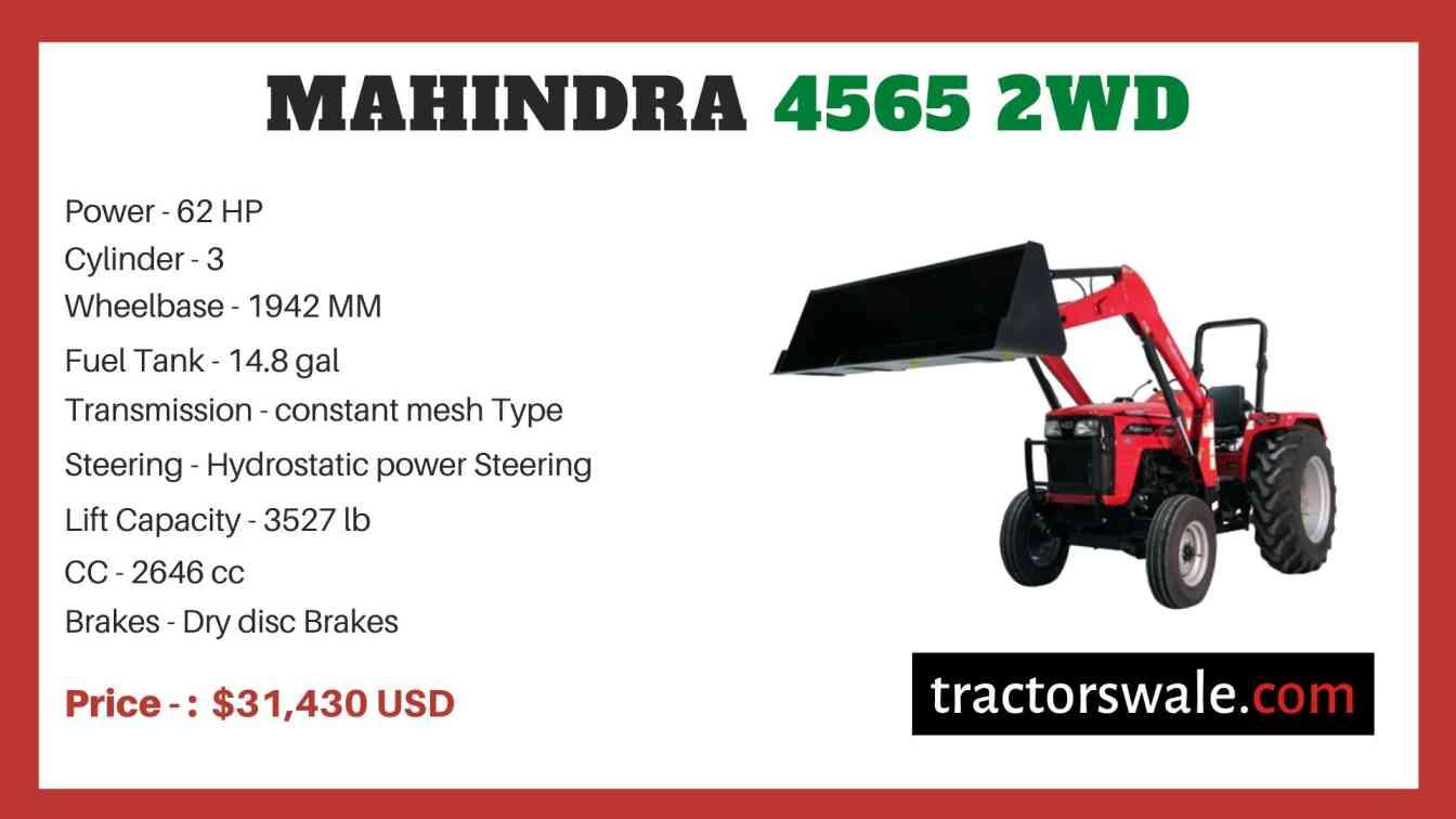Mahindra 4565 2WD price