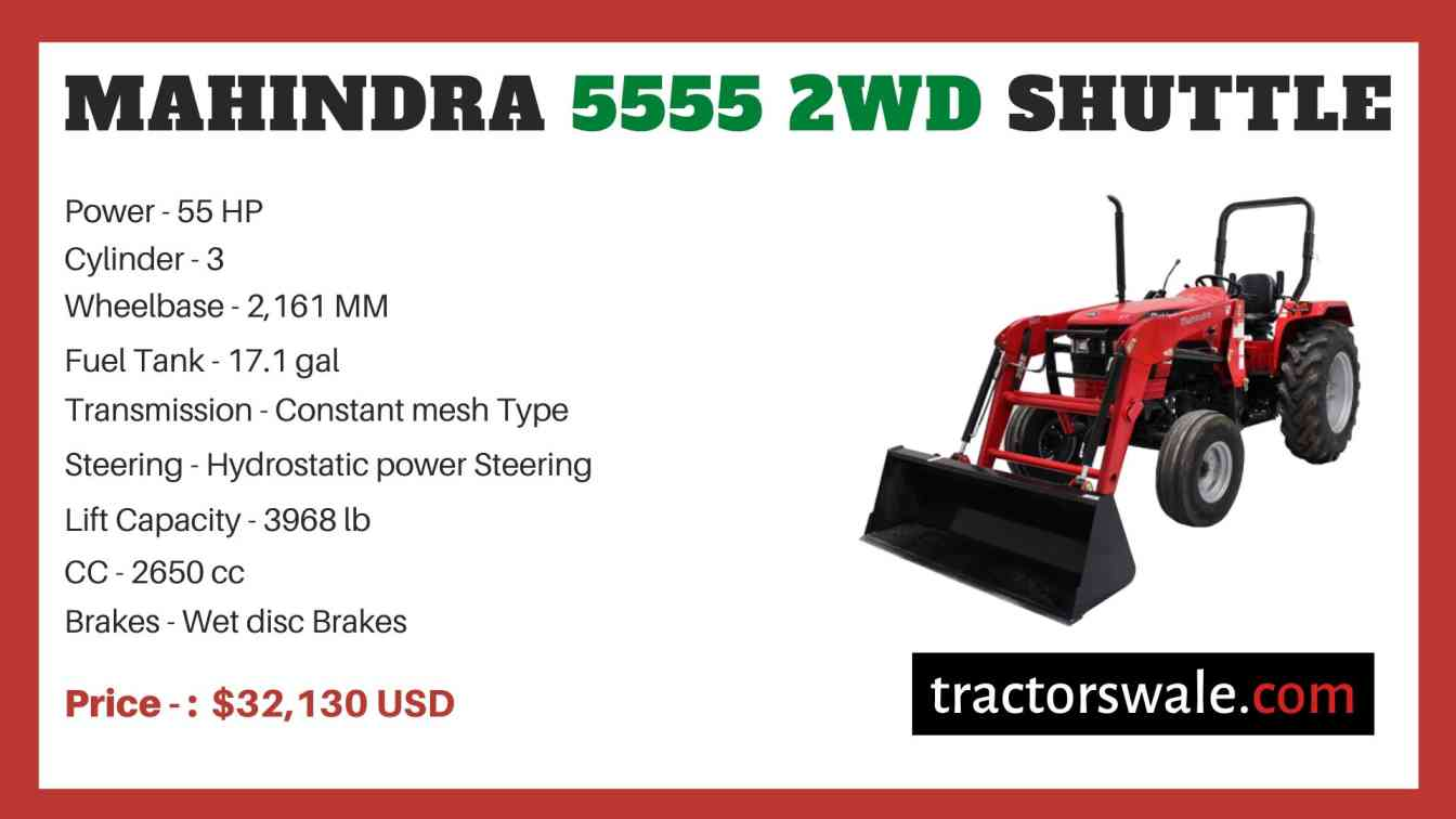 Mahindra 5555 2WD SHUTTLE price