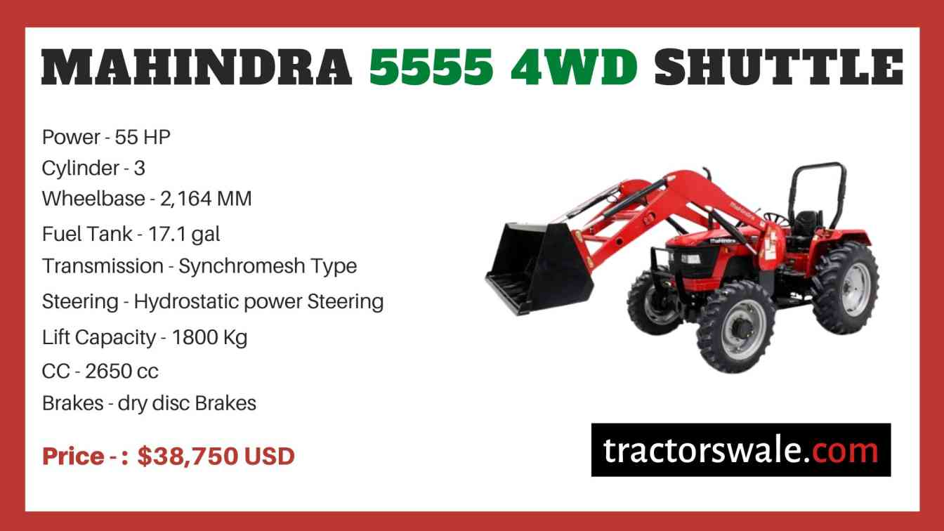 Mahindra 5555 4WD SHUTTLE price