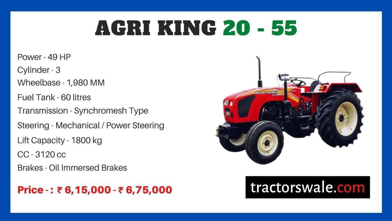 Agri king 20 - 55 price