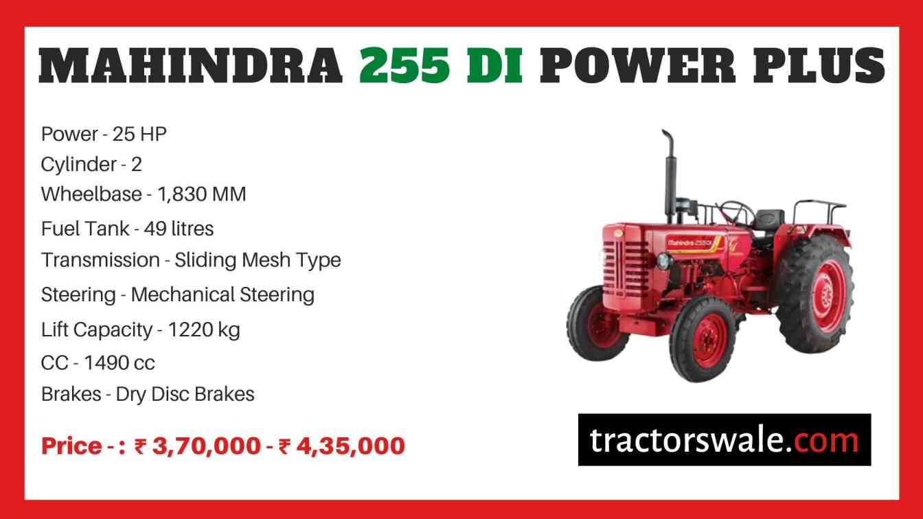 Mahindra 255 DI Power Plus price