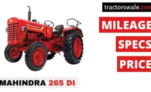 Mahindra 265 DI Price Specification Mileage Overview 2020