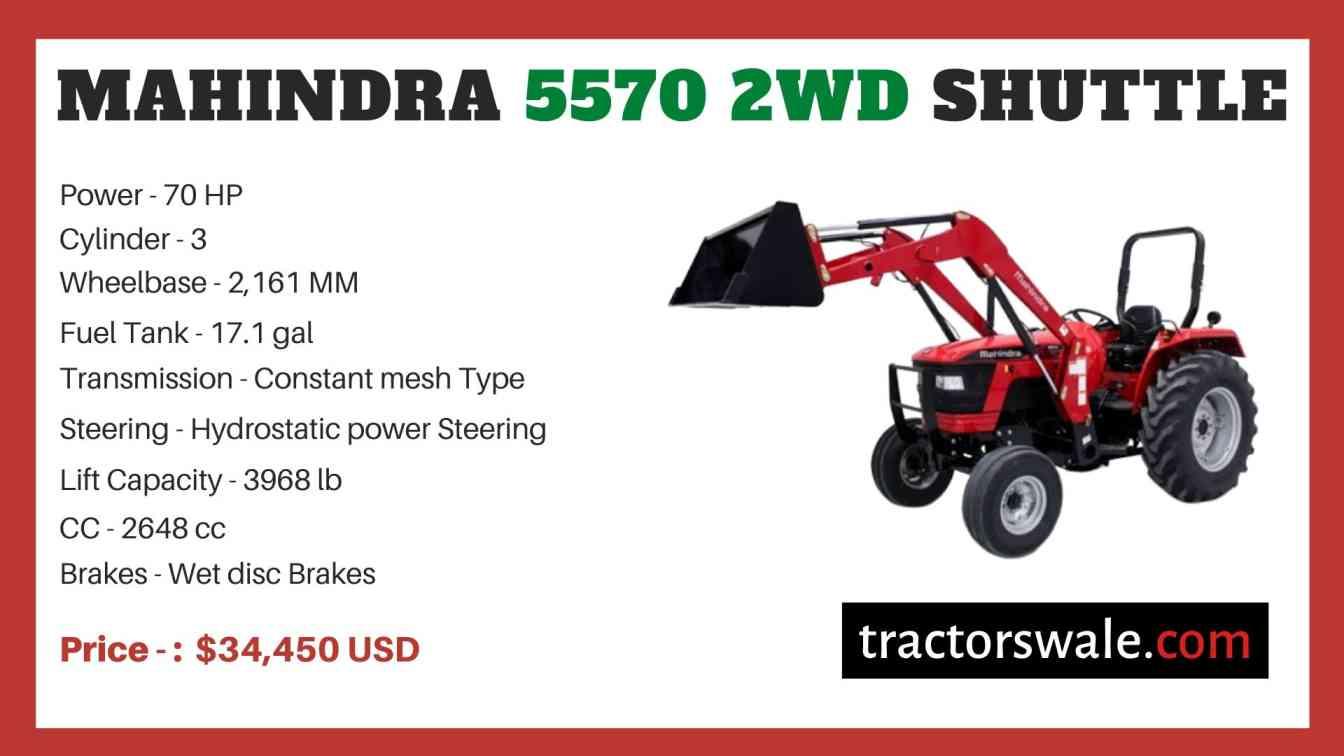 Mahindra 5570 2WD SHUTTLE price