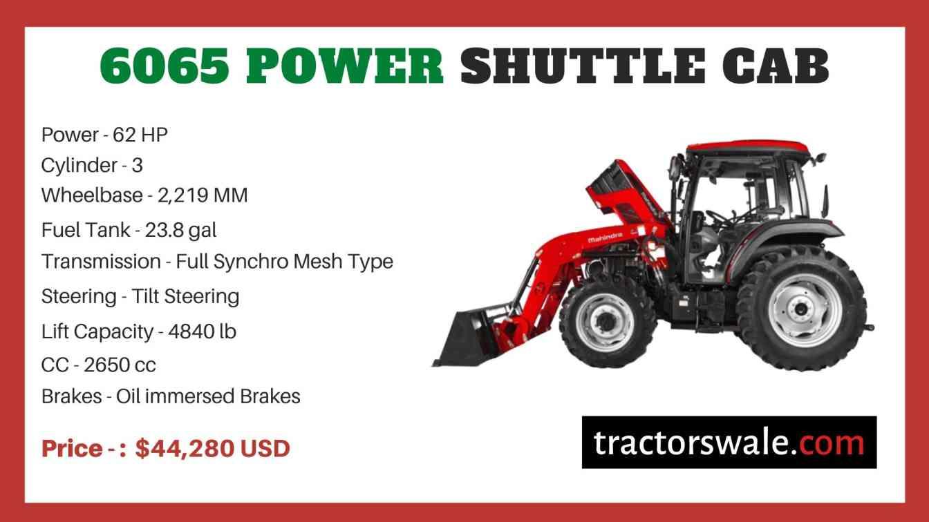 Mahindra 6065 POWER SHUTTLE CAB price