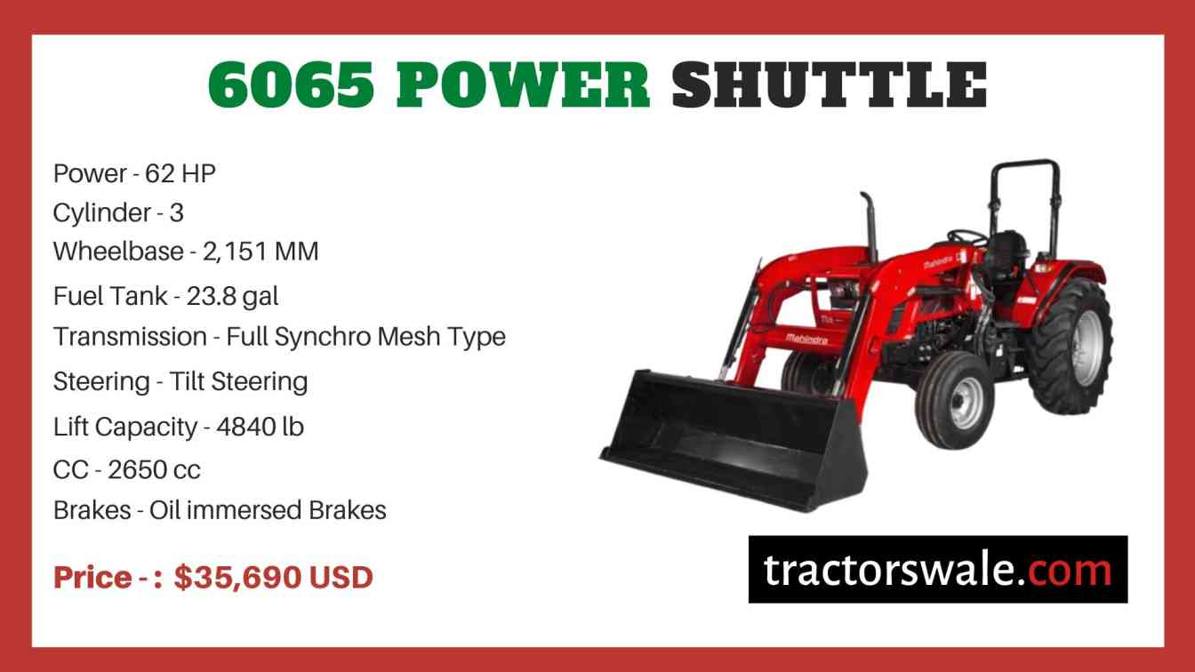 Mahindra 6065 POWER SHUTTLE price