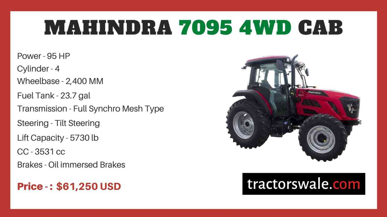 Mahindra 7095 4WD CAB price