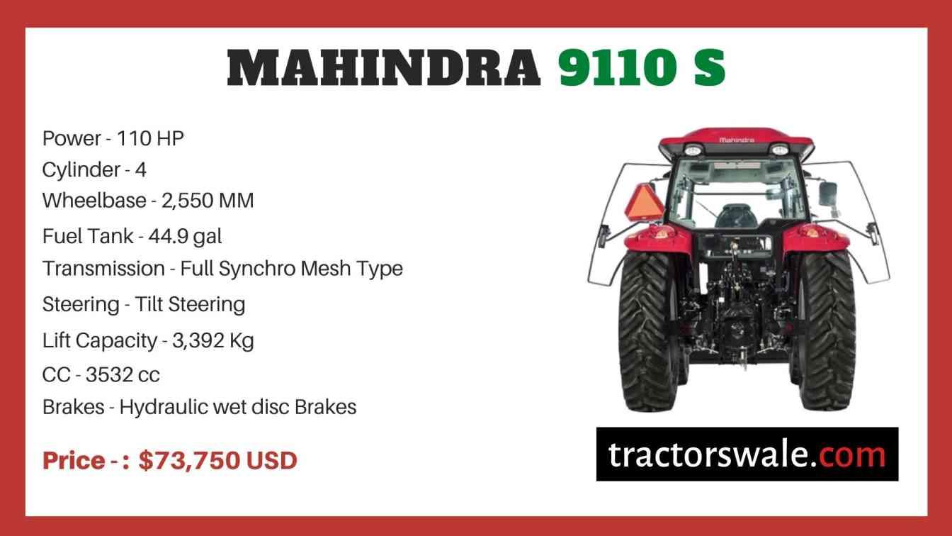 Mahindra 9110 S price
