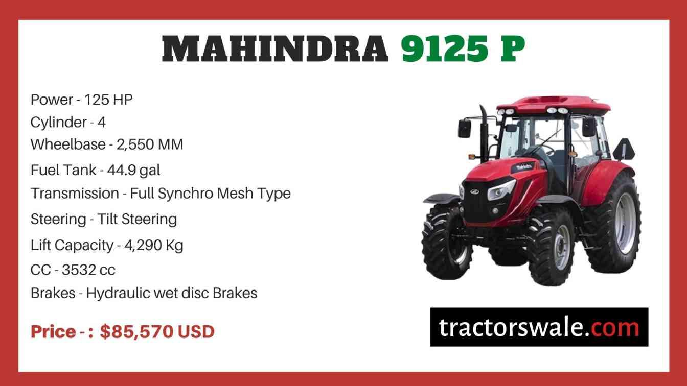 Mahindra 9125 P price