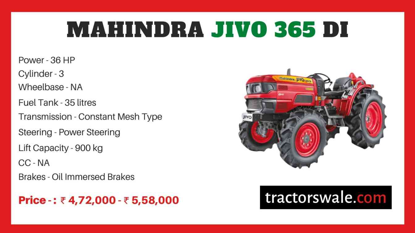 Mahindra Jivo 365 DI price