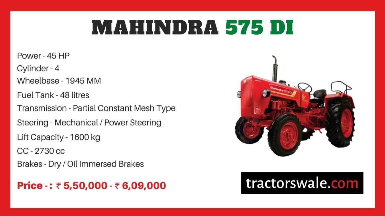 Mahindra Tractor 575 Price