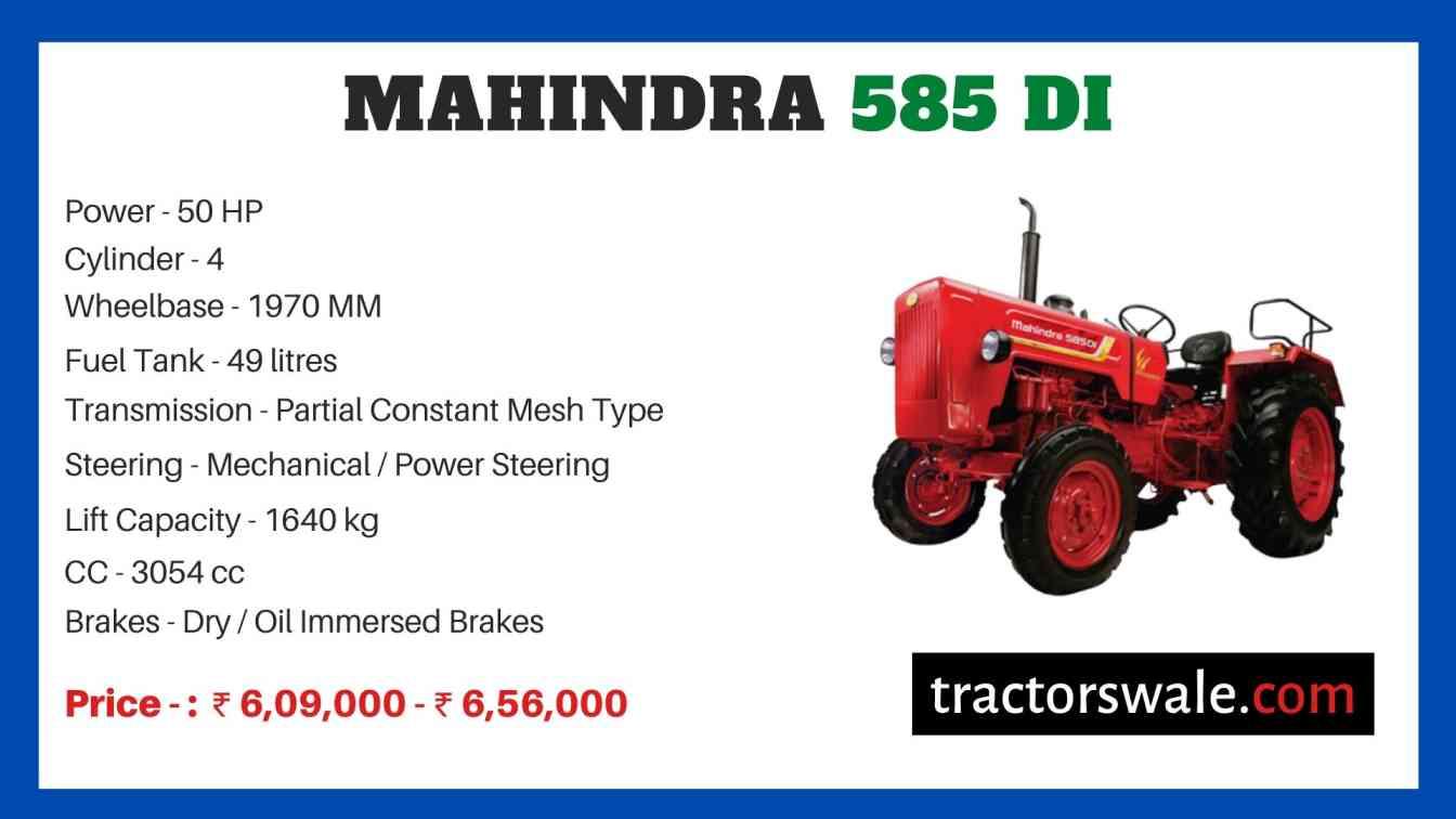 Mahindra Tractor 585 Price