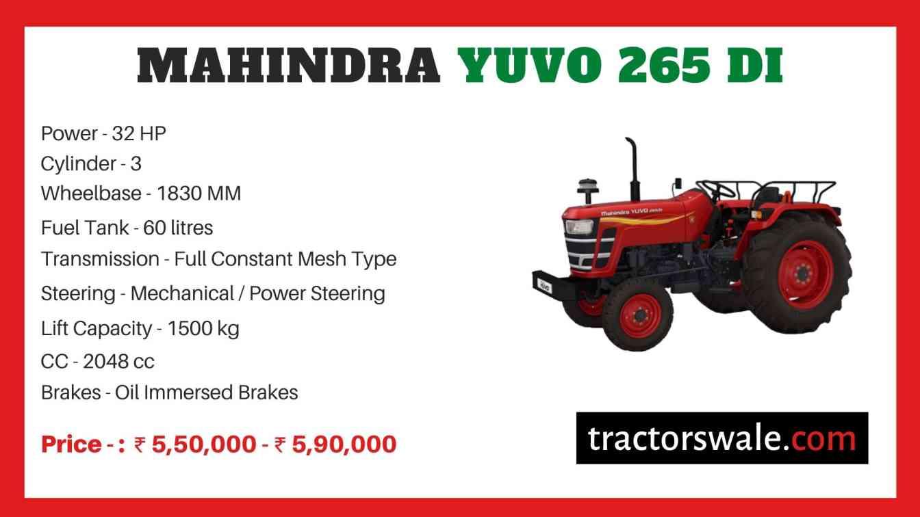 Mahindra Yuvo 265 DI price