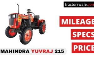 Mahindra Yuvraj 215 Tractor Price Mileage Specs Overview 2020