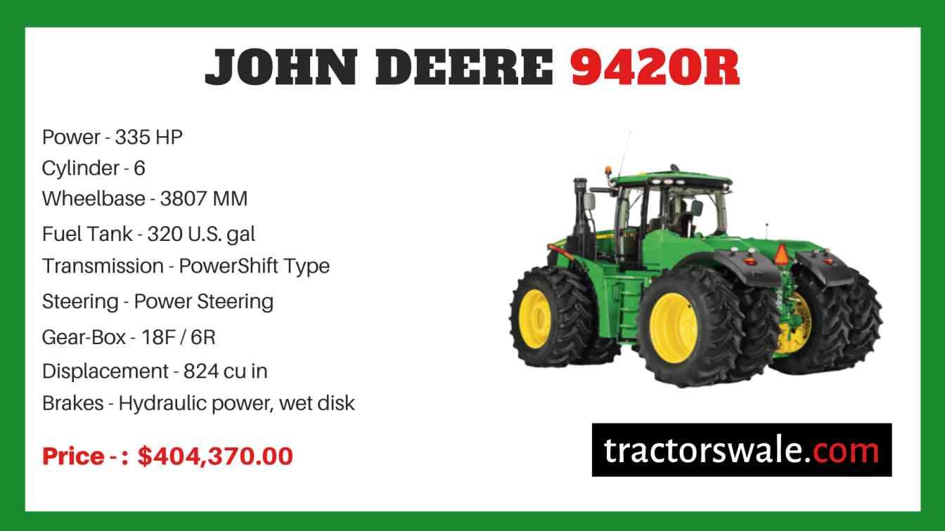 john deere 9420R price