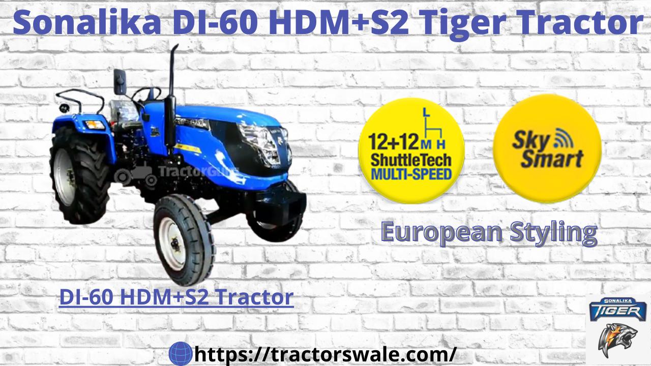 SONALIKA DI-60 HDM+S2 | 2021 | ELECTRIC TRACTOR