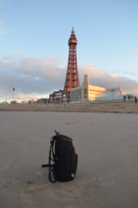 My Trusted drone bag at Blackpool Tower