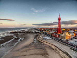 Blackpool tower by drone