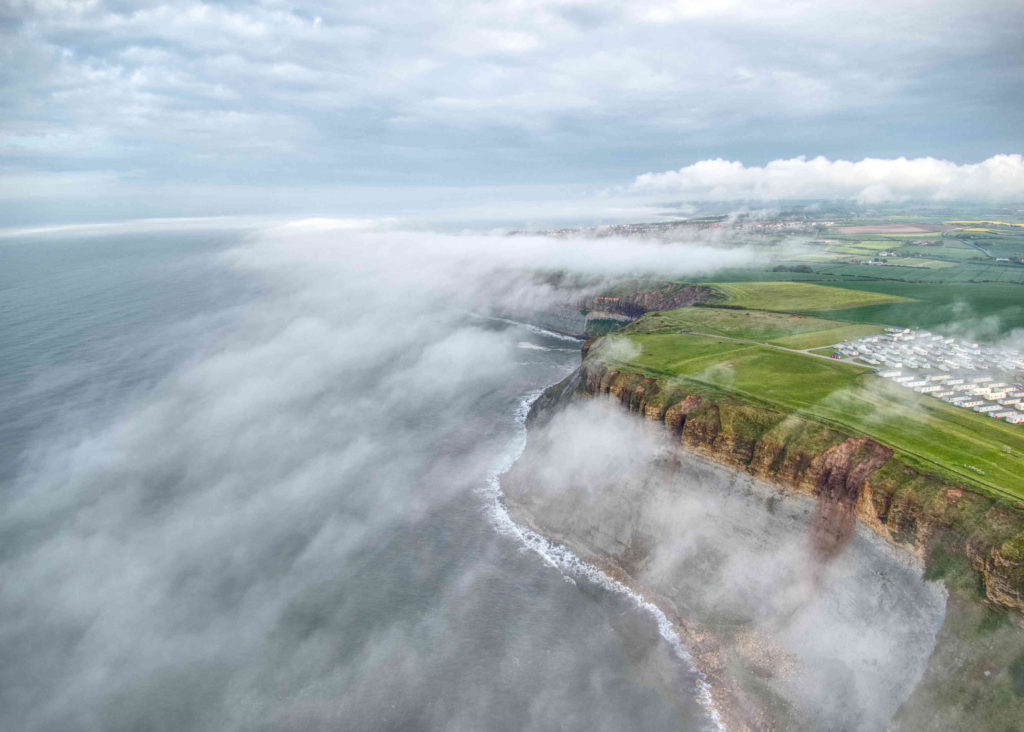 Drone over clouds