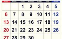 June 2021 Calendar Important Days
