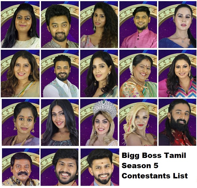 Bigg Boss Tamil Season 5 Contestants List