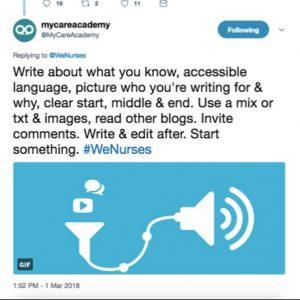 @MyCareAcademy Twitterchat comment