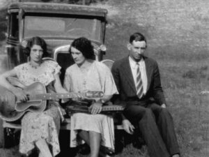 In the 1930s, when Maybelle Carter (left) was touring with her cousin Sara (center) and Sara's husband A.P. Carter as the Carter Family, the members of the group still labored on the family farm in Poor Valley, in southern Virginia.