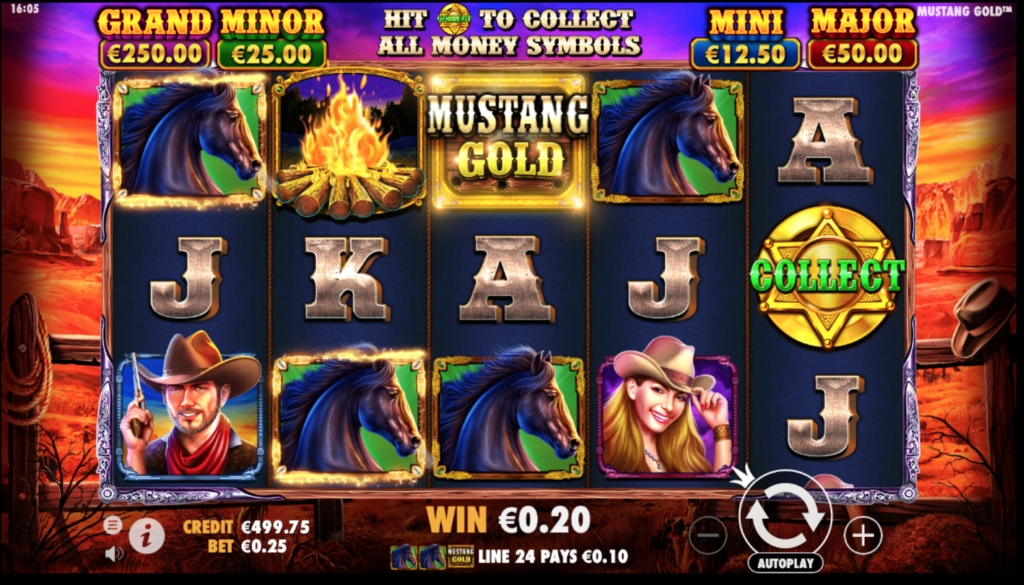 simboli Mustang Gold slot machine