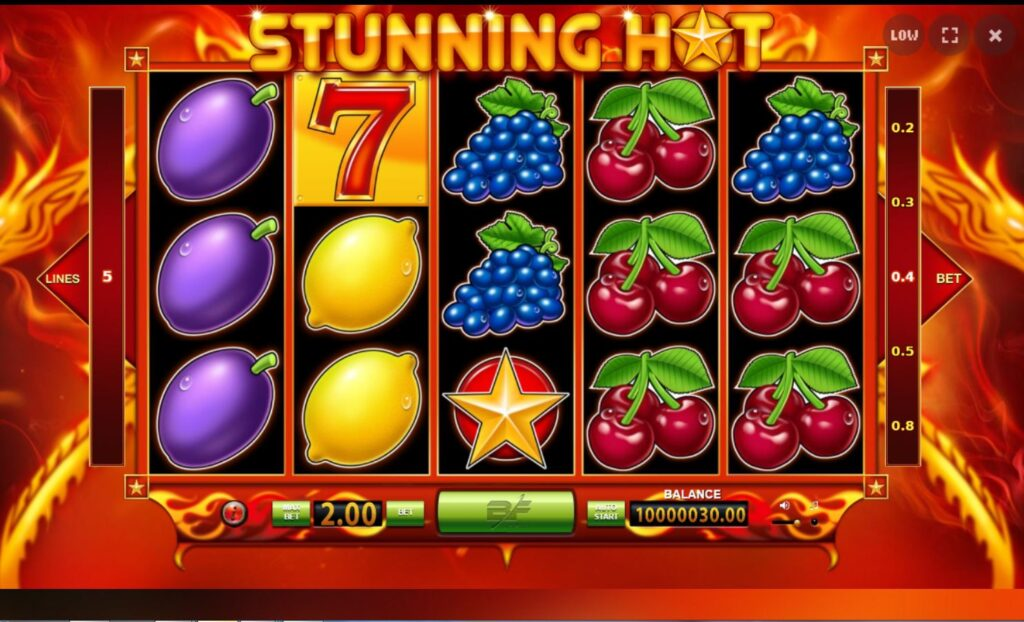 simboli Stunning Hot slot machine