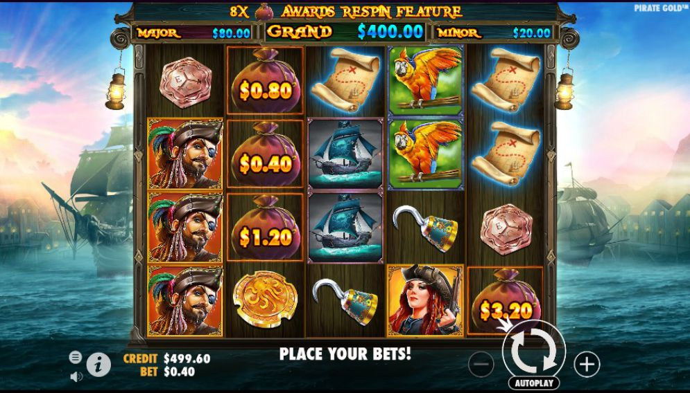 simboli pirate gold slot machine