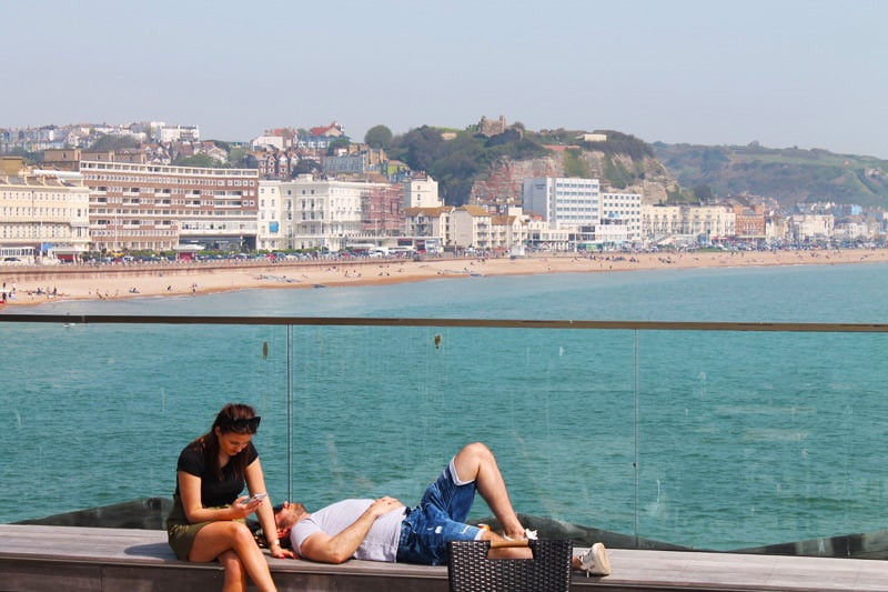 Hastings from Hastings Pier
