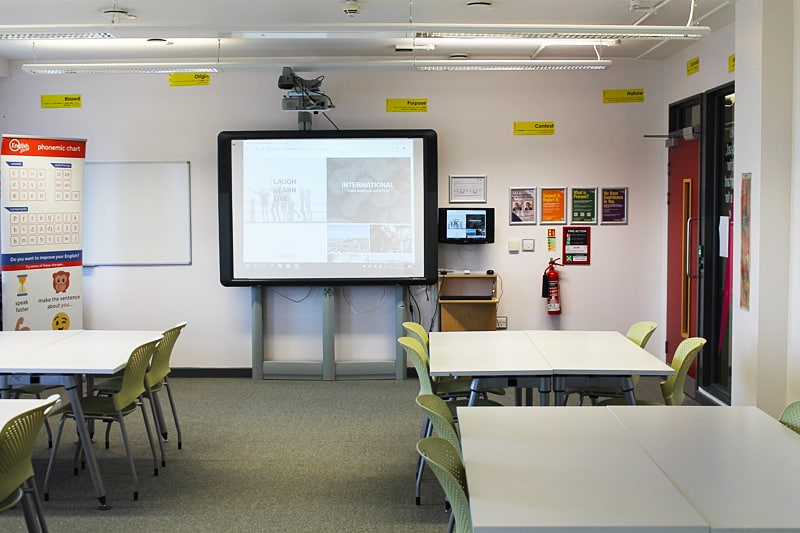 Bright and spacious classrooms