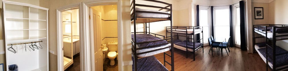 Panoramic view of the en suite students' room