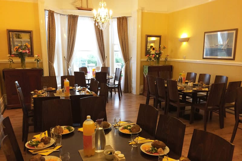 Delicious breakfast and dinner served in the dining room