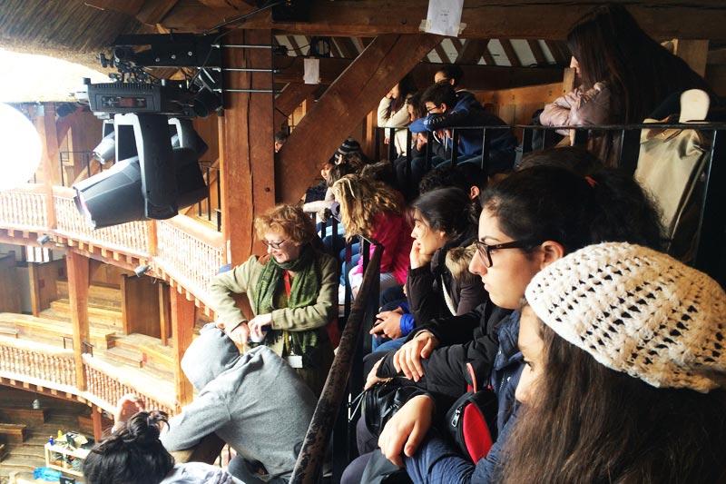 Shakespeare's Globe educational visit, UK