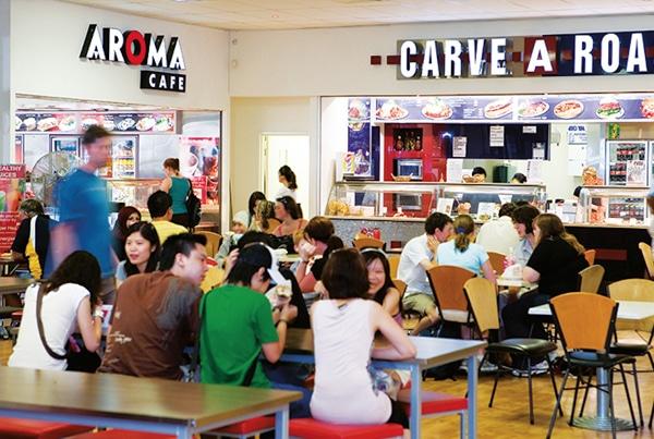 Restaurants, cafes on site