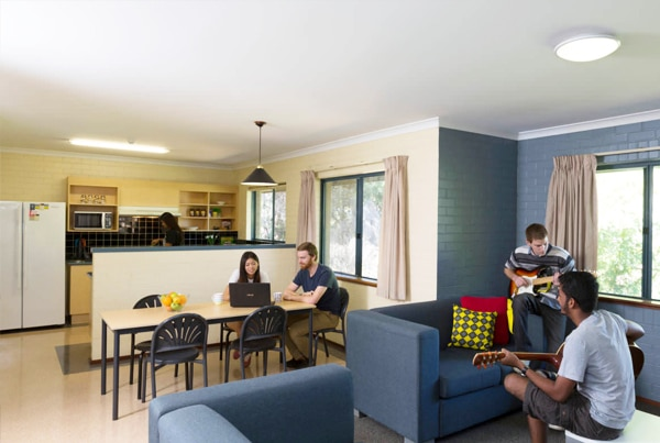 Student lounge and kitchen in each flat