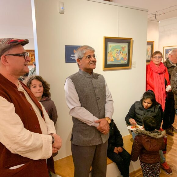 Exhibition on the Devotional Art of Kamal Ahmad opens at Radhadesh