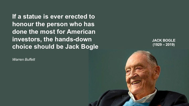 Warren Buffett pays the ultimate homage to the man who started index funds - Jack Bogle