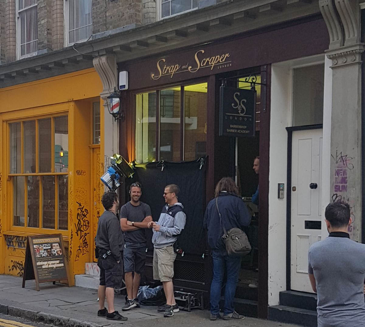 Apple Music filming at Strap and Scraper London Barbershop, Shoreditch