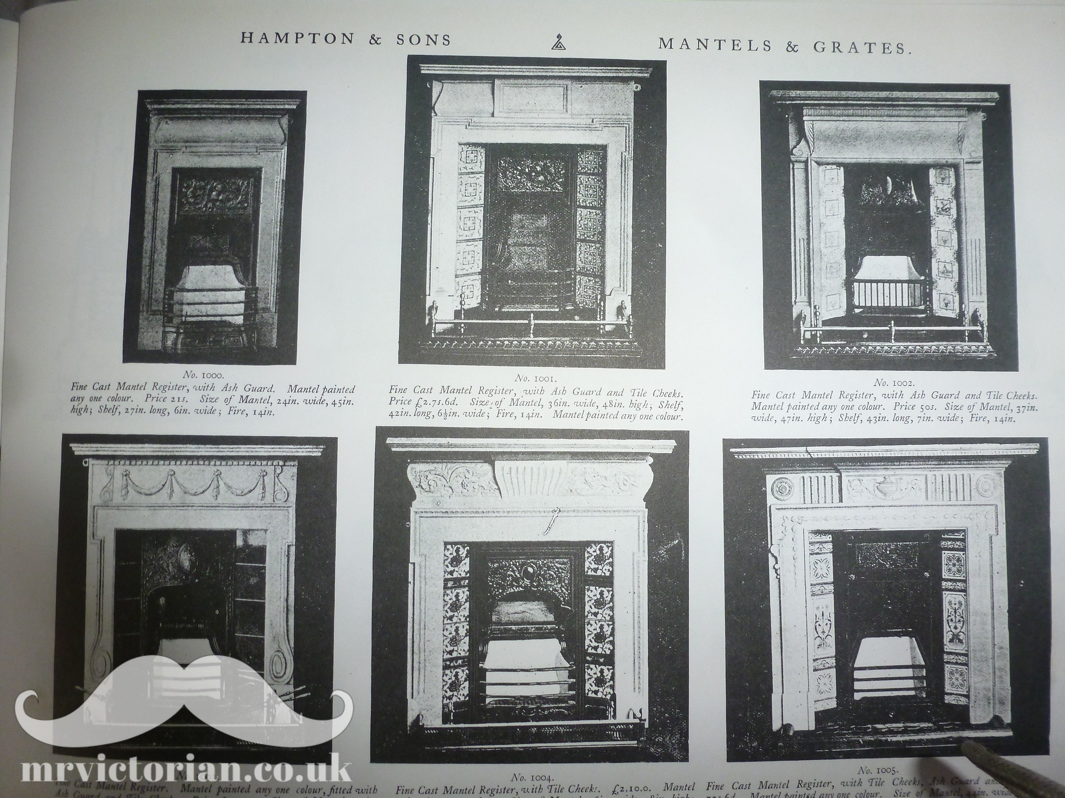 Restoring an iron fireplace Victorian iron catalogue painted tiled inserts