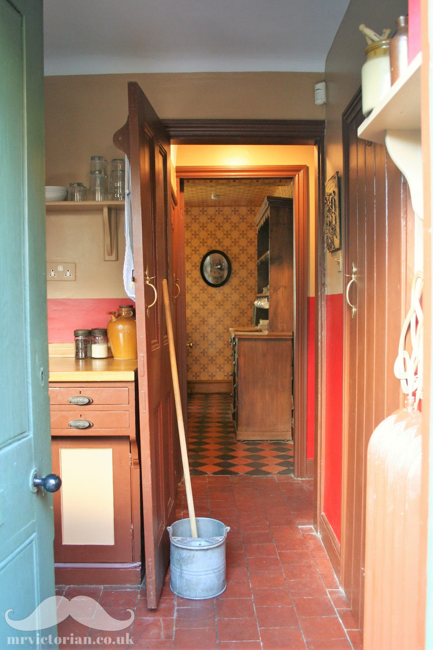 Victorian kitchen scullery quarry tile